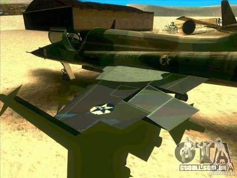F-5E Tiger para GTA San Andreas vista traseira