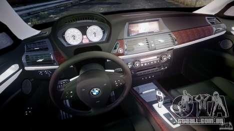 BMW X5 xDrive 4.8i 2009 v1.1 para GTA 4 vista de volta