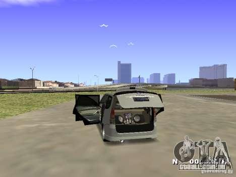 Toyota Avanza Street Edition para GTA San Andreas traseira esquerda vista