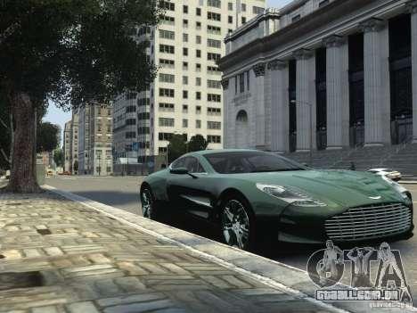 Aston Martin One 77 2012 para GTA 4 traseira esquerda vista