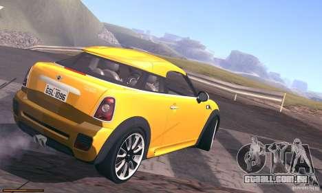 Mini Concept Coupe 2010 para GTA San Andreas vista interior