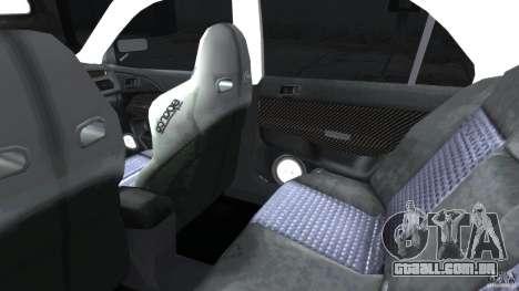 Mitsubishi Lancer Evolution VIII v1.0 para GTA 4 vista interior