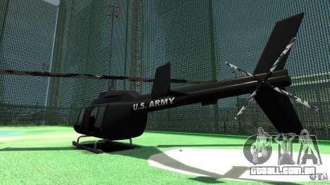 Black U.S. ARMY Helicopter v0.2 para GTA 4 vista direita
