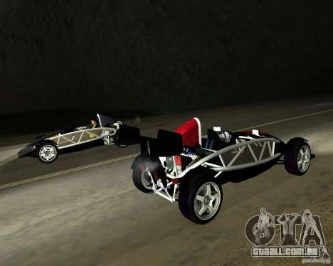 Ariel Atom V8 para GTA San Andreas esquerda vista