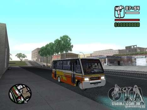 Ciferal Agilis M.Benz LO-814 BY GTABUSCL para GTA San Andreas vista traseira