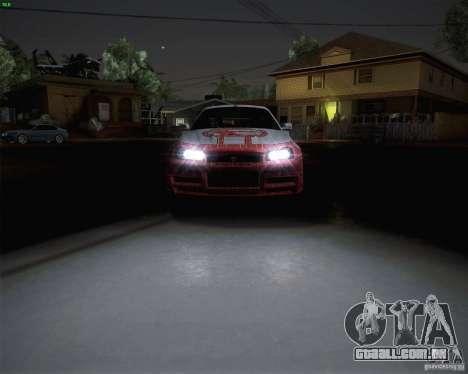 Nissan Skyline Z-Tune v2.0 para GTA San Andreas traseira esquerda vista