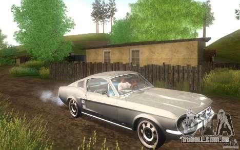 Ford Mustang 1967 American tuning para GTA San Andreas vista interior