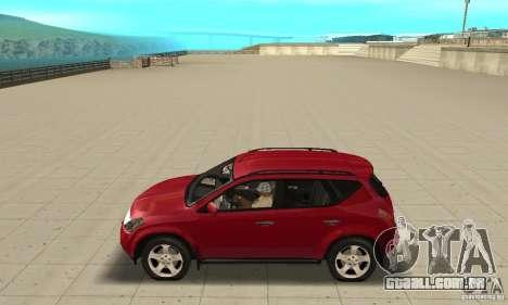 Nissan Murano 2004 para GTA San Andreas esquerda vista