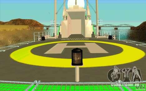 Rainbow Warrior para GTA San Andreas vista interior