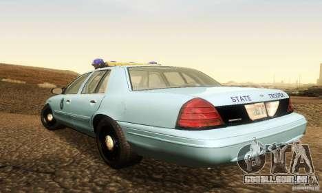 Ford Crown Victoria Maine Police para GTA San Andreas esquerda vista