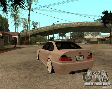 BMW M3 CSL E46 G-Power para GTA San Andreas esquerda vista