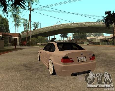 BMW M3 CSL E46 G-Power para GTA San Andreas esquerda vista
