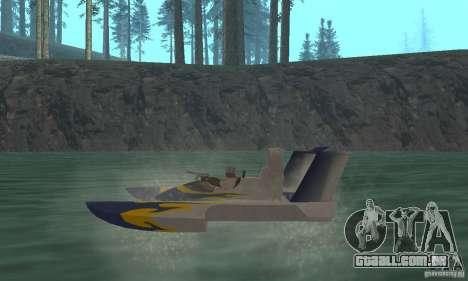 Hydrofoam para GTA San Andreas traseira esquerda vista