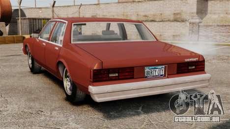 Chevrolet Caprice Classic 1979 para GTA 4 traseira esquerda vista