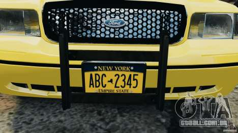Ford Crown Victoria NYC Taxi 2004 para GTA 4 vista interior
