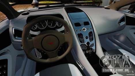 Aston Martin Vanquish 2013 para GTA 4 vista de volta