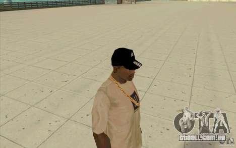 Adidas baseball cap-preto para GTA San Andreas terceira tela