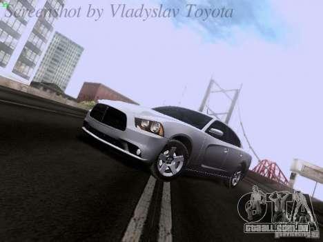 Dodge Charger 2013 para GTA San Andreas traseira esquerda vista