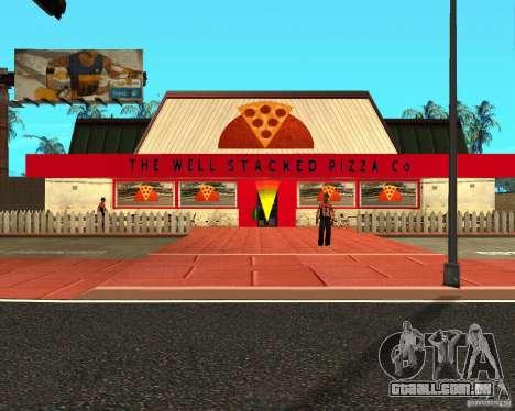 Comprar pizza para GTA San Andreas