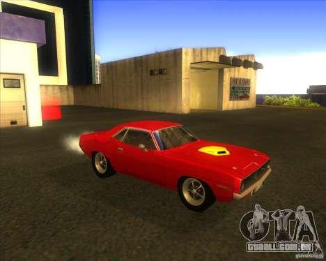 Plymouth Hemi Cuda para GTA San Andreas vista interior