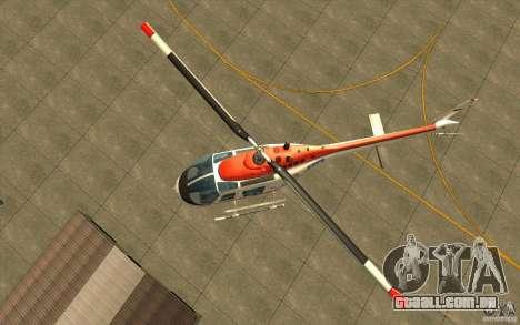 Bell 206 B Police texture2 para GTA San Andreas vista traseira