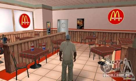 Restaurantes McDonals para GTA San Andreas décimo tela