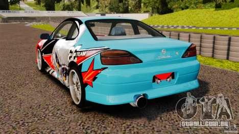 Nissan Silvia S15 Evil Empire para GTA 4 traseira esquerda vista