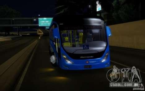 Marcopolo Viale BRT 0500M para GTA San Andreas traseira esquerda vista