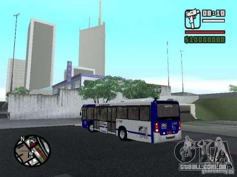 Busscar Urbanuss Ecoss MB 0500U Sambaiba para GTA San Andreas traseira esquerda vista