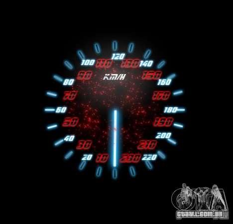 Neon Style Speedometr para GTA San Andreas por diante tela