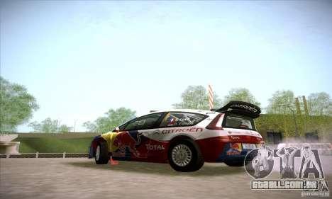 Citroen C4 WRC para GTA San Andreas traseira esquerda vista