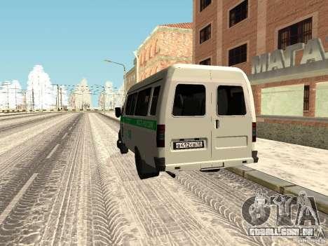 3302 gazela negócios para GTA San Andreas traseira esquerda vista