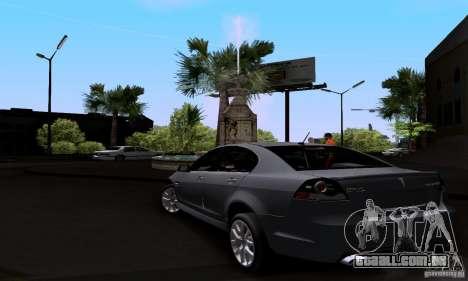 Pontiac G8 GXP para GTA San Andreas traseira esquerda vista