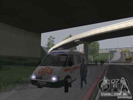 GÁS 22172 ambulância para GTA San Andreas vista interior