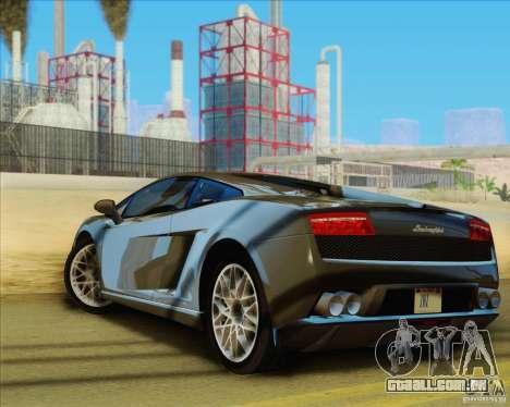 Lamborghini Gallardo LP560-4 para GTA San Andreas esquerda vista