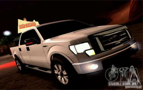 Ford Lobo 2012 para GTA San Andreas vista traseira