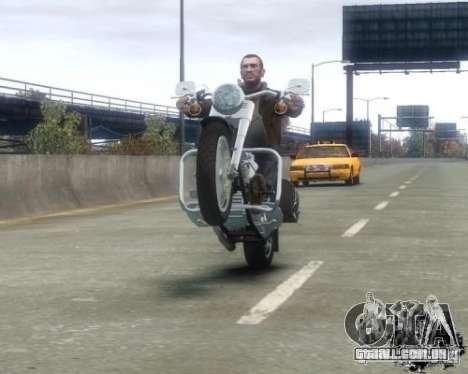 Harley Davidson FLSTF Fat Boy para GTA 4 vista direita