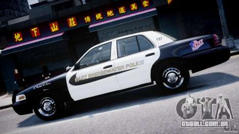 Ford Crown Victoria Massachusetts Police [ELS] para GTA 4 vista inferior