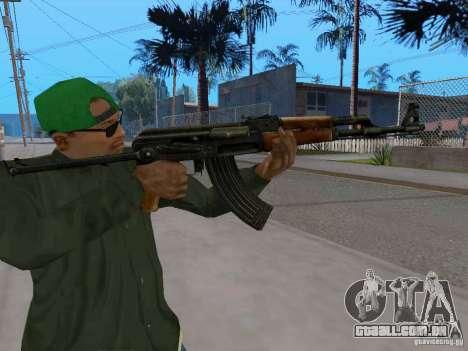 AKC - 47 HD para GTA San Andreas por diante tela