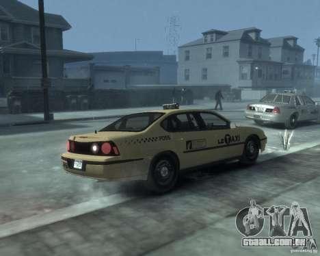 Chevrolet Impala 2003 Taxi para GTA 4 vista direita