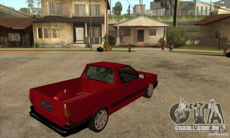 VW Saveiro GL 1989 para GTA San Andreas vista direita