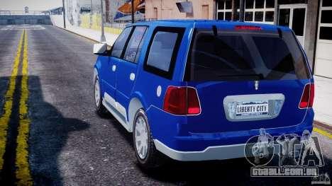 Lincoln Navigator 2004 para GTA 4 traseira esquerda vista
