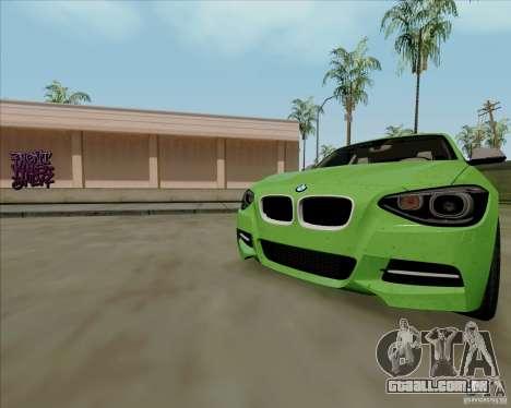 BMW M135i V1.0 2013 para GTA San Andreas interior