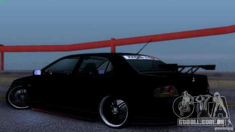 Mitsubishi Lancer Evolution 8 Drift para GTA San Andreas vista direita