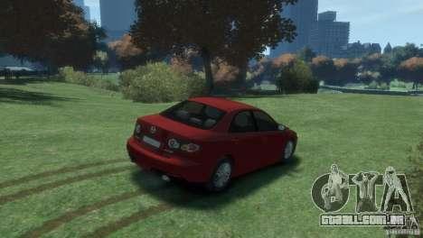 Mazda 6 MPS para GTA 4 vista de volta