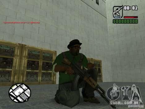 Black Weapon by ForT para GTA San Andreas por diante tela