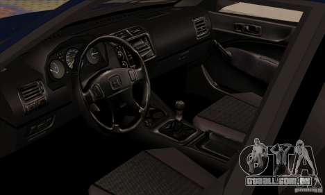 Honda Civic para GTA San Andreas vista traseira