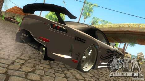 Mazda RX-7 Veilside Logan para GTA San Andreas traseira esquerda vista