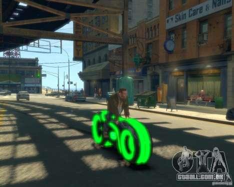 Motocicleta do trono (neon verde) para GTA 4 vista direita