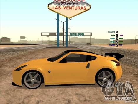 Nissan 370Z para GTA San Andreas traseira esquerda vista